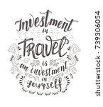 travel. vector hand drawn...   Shutterstock .eps vector #739306054