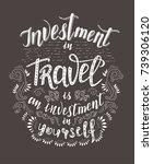 travel. vector hand drawn...   Shutterstock .eps vector #739306120