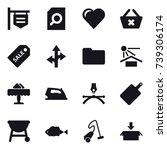 16 vector icon set   shop... | Shutterstock .eps vector #739306174