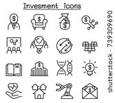 business investment icon set in ... | Shutterstock .eps vector #739309690
