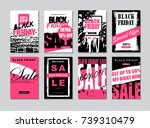 black friday sale template... | Shutterstock . vector #739310479