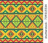 tribal vintage ethnic seamless   Shutterstock .eps vector #739315534