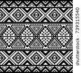 tribal vintage ethnic seamless   Shutterstock .eps vector #739315540