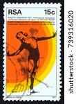 south africa   circa 1977  a... | Shutterstock . vector #739316020