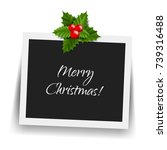 christmas photo frame  | Shutterstock . vector #739316488