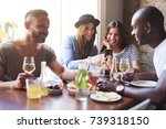 young people having... | Shutterstock . vector #739318150