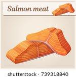 salmon meat icon. cartoon... | Shutterstock .eps vector #739318840