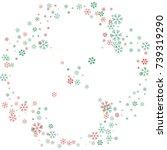 rounded christmas border or... | Shutterstock .eps vector #739319290
