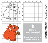copy the picture using grid... | Shutterstock .eps vector #739319764