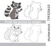 drawing worksheet for preschool ... | Shutterstock .eps vector #739320610