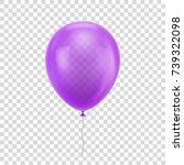 purple realistic balloon.... | Shutterstock .eps vector #739322098