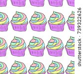 cupcake vector illustration.... | Shutterstock .eps vector #739322626