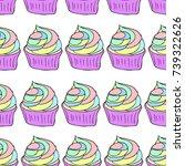 cupcake vector illustration.... | Shutterstock .eps vector #739322626