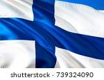 finland flag. flag of finland.... | Shutterstock . vector #739324090
