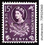 kenya uganda tanganyika   circa ... | Shutterstock . vector #739324360