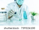 beauty background  scientist is ... | Shutterstock . vector #739326100