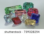 nine colorful jewels  ruby ...   Shutterstock . vector #739328254