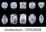 ten the most popular diamond... | Shutterstock . vector #739328338