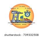 illustration treadmill | Shutterstock .eps vector #739332508