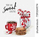 christmas theme  christmas... | Shutterstock .eps vector #739334974