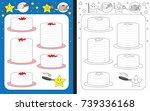 preschool worksheet for... | Shutterstock .eps vector #739336168