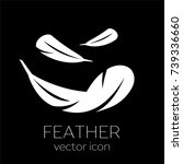 feather icon. lightweight icon | Shutterstock .eps vector #739336660