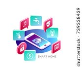 smart home. concept of smart... | Shutterstock .eps vector #739338439