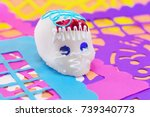 decoration for day of the dead... | Shutterstock . vector #739340773
