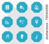 set of 9 medical icons set... | Shutterstock .eps vector #739343500