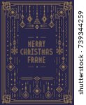 merry christmas frame template... | Shutterstock .eps vector #739344259