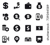 16 vector icon set   dollar ... | Shutterstock .eps vector #739344589