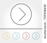 arrow single icon vector...