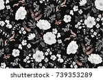 Stock vector trendy seamless floral pattern in vector 739353289