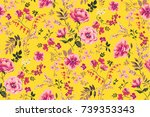 Stock vector trendy seamless floral pattern in vector 739353343