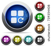 redo component operation icons... | Shutterstock .eps vector #739354408