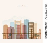 la paz skyline detailed... | Shutterstock .eps vector #739362340