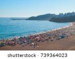 praia dos pescadores  abureira  ... | Shutterstock . vector #739364023