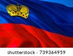 lichtenstein flag. flag of... | Shutterstock . vector #739364959