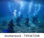 eilat  israel   october 17 ... | Shutterstock . vector #739367248