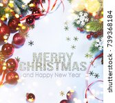holiday background  greeting... | Shutterstock . vector #739368184