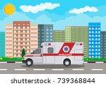 ambulance car. emergency... | Shutterstock .eps vector #739368844