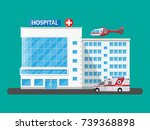 hospital building  medical icon.... | Shutterstock .eps vector #739368898