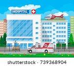 hospital building  medical icon....   Shutterstock .eps vector #739368904