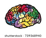 colorful vector brain... | Shutterstock .eps vector #739368940