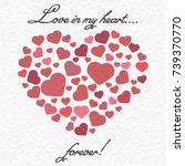love in my heart is forever... | Shutterstock .eps vector #739370770