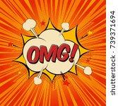 omg comic text speech bubble.... | Shutterstock .eps vector #739371694