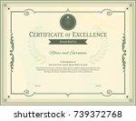 luxury certificate template... | Shutterstock .eps vector #739372768