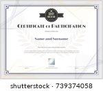luxury certificate template... | Shutterstock .eps vector #739374058