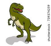 dinosaur. vector illustration.... | Shutterstock .eps vector #739374259