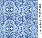 vintage decorative seamless...   Shutterstock .eps vector #739375984
